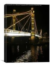 Albert Bridge, River Thames, London, Canvas Print