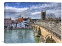 Henley On Thames And The Angel, Canvas Print