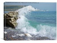 Breaking Wave The Seven Sisters, Canvas Print