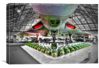 Vulcan and Bombs - R.A.F. Museum Hendon 1, Canvas Print