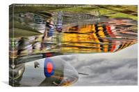 Vulcan Reflections Farnborough 2014 , Canvas Print