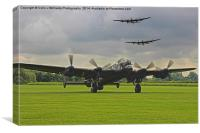 3 Lancasters - East Kirkby , Canvas Print