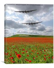 The Two Lancasters - We Remember Them !, Canvas Print
