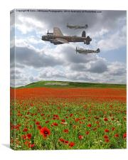 Spitfires And A Lancaster , Canvas Print