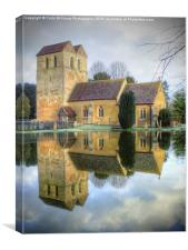 The Parish Church of St Bartholomew Fingest, Canvas Print