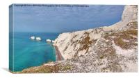 The Needles - Isle of Wight Panorama, Canvas Print