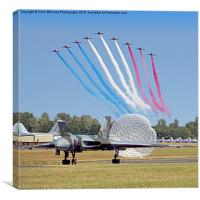 The Red Arrows Salute The Vulcan, Canvas Print