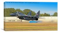 Mig 29 Take Off, Canvas Print
