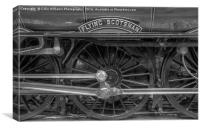 The Return Of The Flying Scotsman 1 BW, Canvas Print