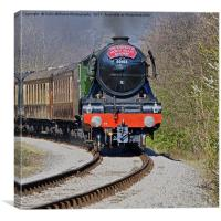 The flying Scotsman on the  KWVR - 2, Canvas Print
