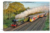 Flying Scotsman and the Four Trains, Canvas Print
