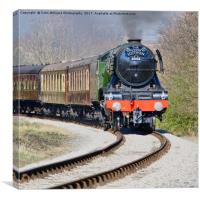 The flying Scotsman on the  KWVR - 3, Canvas Print