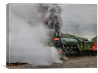 The Flying Scotsman Departs, Canvas Print