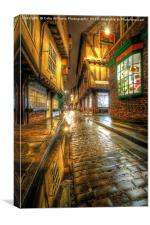The Shambles At Night 3, Canvas Print