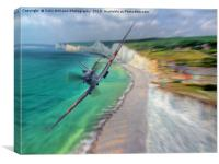 Spitfire at The Birling Gap, Canvas Print