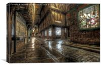 The Shambles in the Rain 1, Canvas Print