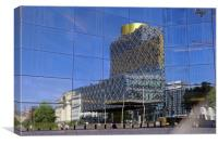 Reflections from Birmingham Symphony Hall, Canvas Print