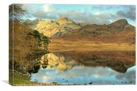 Blea Tarn In Autumn, Canvas Print