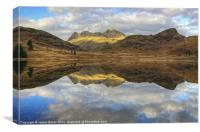 Langdale Pikes Reflections, Canvas Print