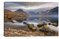 Wastwater..Rocks And Reflections, Canvas Print