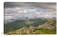 Scafell And Scafell Pike, Canvas Print