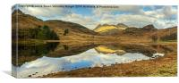 The Pikes Reflected, Canvas Print