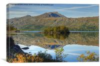 Loch Maree Reflections, Canvas Print