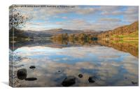 Rydal Water in November, Canvas Print
