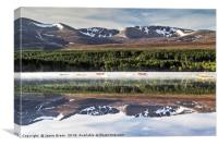 Reflections in Morlich, Canvas Print