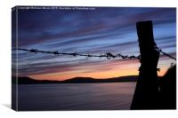 Barbed Wire Sunset , Canvas Print