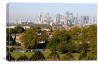 City of London from Greenwich Hill , Canvas Print