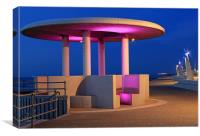 Shelter at Cleveleys, Canvas Print