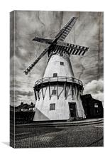 Windmill on Cracked Canvas, Canvas Print