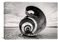 Cleveleys: swirls and contours, Canvas Print