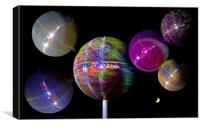 Glitter Ball Montage, Canvas Print