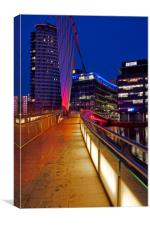 Walkway to Media City, Canvas Print