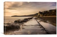 Folkestone The Warren, Canvas Print