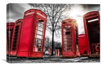 Red Phonebox Art, Canvas Print