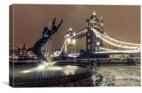 Tower Bridge and Dolphin, Canvas Print