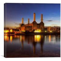 Battersea Power Station @ Twilight, Canvas Print