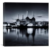 Battersea Power Station -Toned., Canvas Print