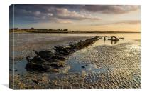 "Minnis bay - wreck of ""The Hero"", Canvas Print"