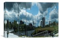 Clydeside Reflection, Canvas Print