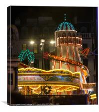 Helter Skelter at the Fun Fair in Glasgow, Canvas Print