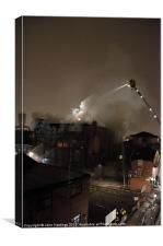 Manchester Fire Fighters, Canvas Print