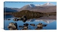 Rannoch Moor and the Black Mount, Canvas Print