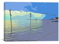 Changing skies at Southend, Canvas Print