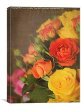 Textured Roses, Canvas Print