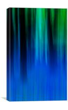 Bluebell Panned Abstract, Canvas Print