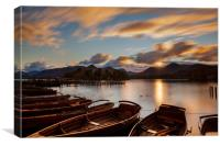 Moored Boats Derwent Water, Lake District., Canvas Print
